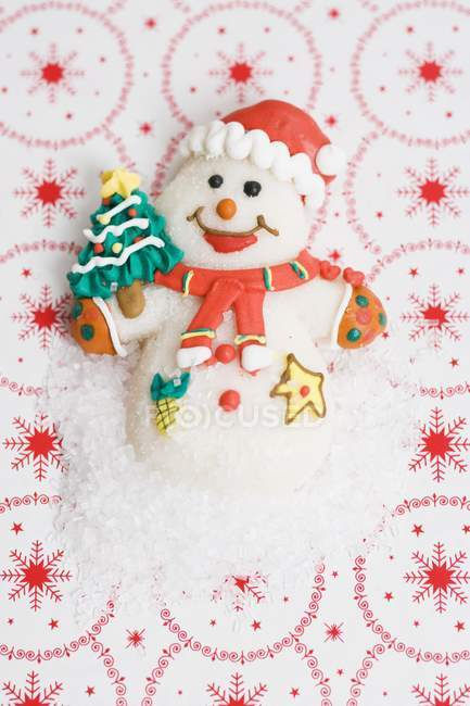 Christmas sweet Snowman — Stock Photo