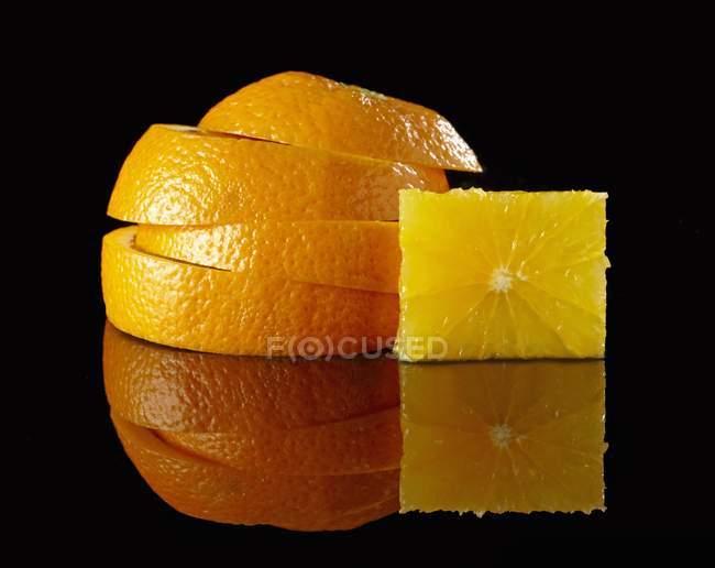 Stack of orange slices — Stock Photo