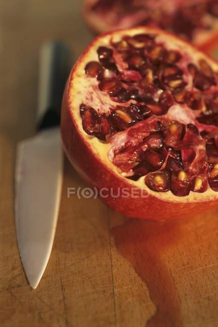 Fresh Halved pomegranate — Stock Photo