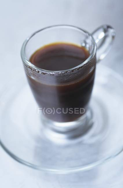 Coffee in glass cup — Stock Photo