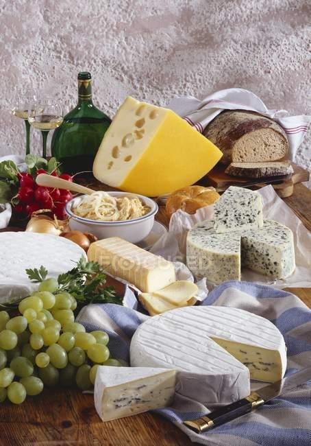 Bavarian cheese specialities — Stock Photo