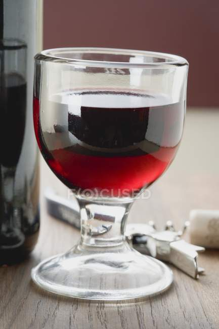 Glass of tasty red wine — Stock Photo