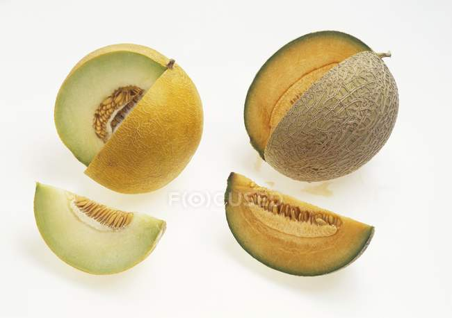 Fresh sliced melons — Stock Photo