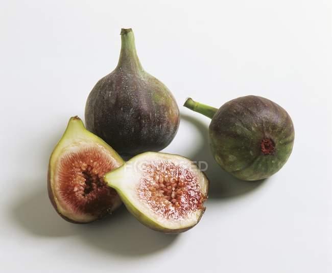 Green fresh figs — Stock Photo