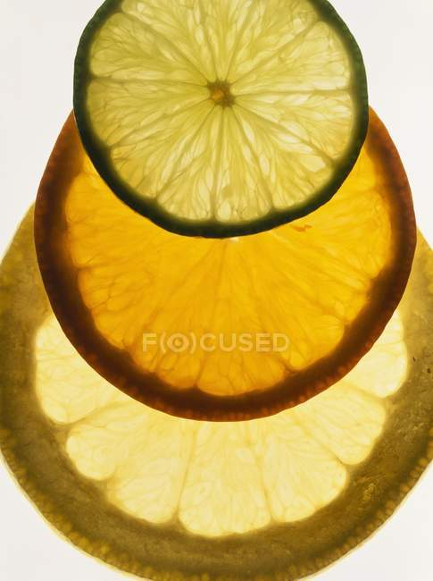 Лайм, оранжевий і грейпфрута — стокове фото