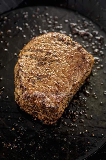Fried peppered steak — Stock Photo