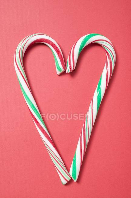Two candy canes — Stock Photo