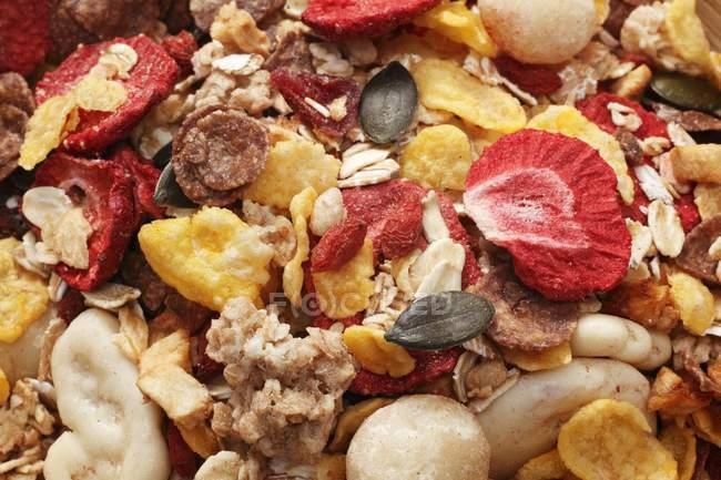 Muesli de fruits avec des fruits — Photo de stock