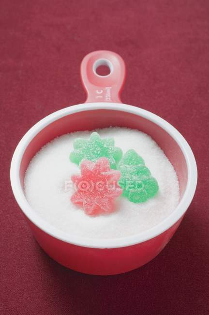 Jelly sweets and sugar — Stock Photo
