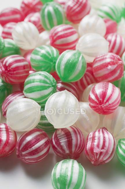 Colorful sweet Peppermints — Stock Photo