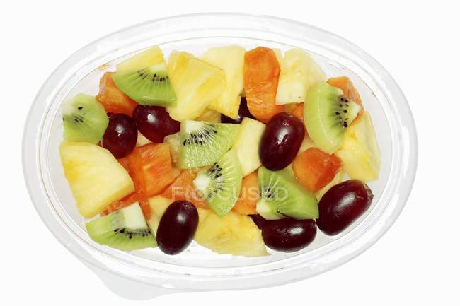 Fruit salad in container — Stock Photo