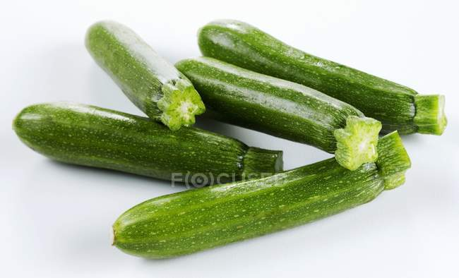 Fresh green Courgettes — Stock Photo