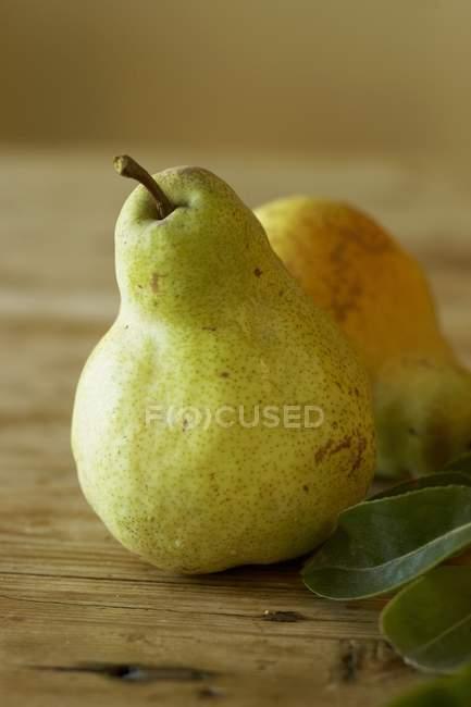 Peras maduras verdes — Fotografia de Stock