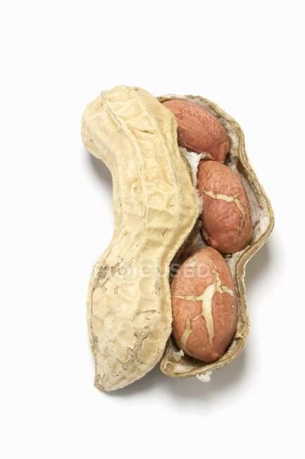 Unshelled арахіс і відкритий — стокове фото