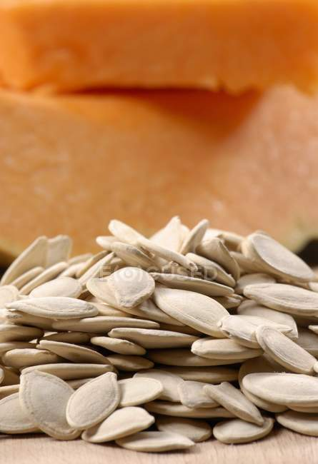 Dried seeds with pumpkin — Stock Photo