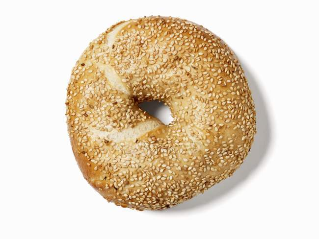 Bagel, seen from above — Stock Photo