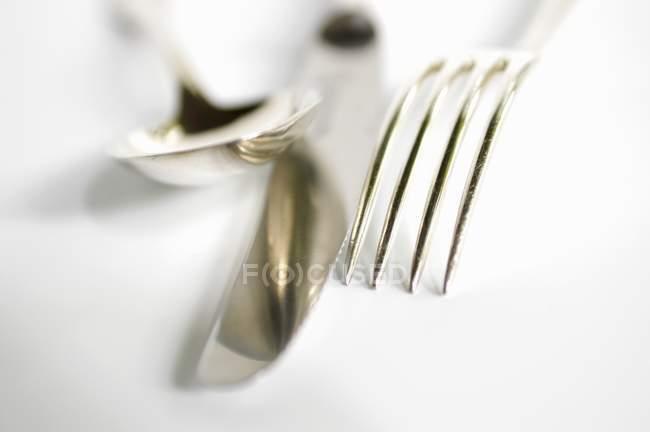 Coltello, forchetta e cucchiaio — Foto stock