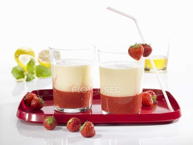 Besonderen Shake mit Joghurt — Stockfoto