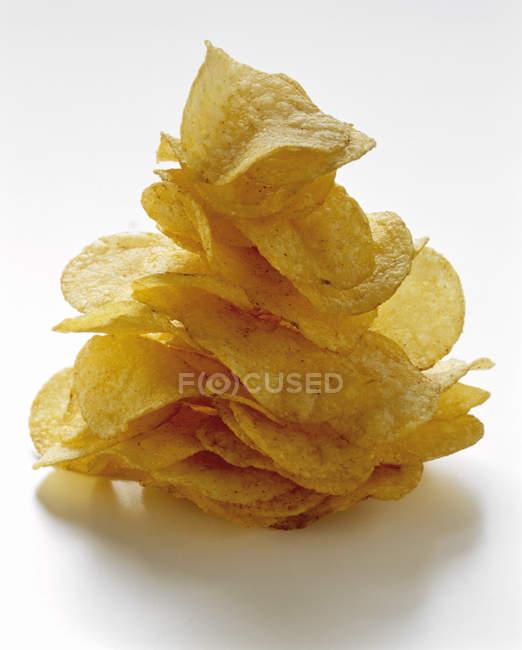 Pile of Potato Chips — Photo de stock