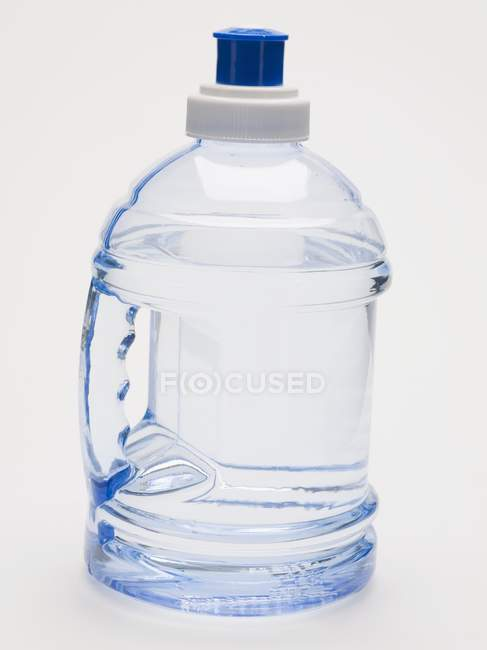 Closeup view of plastic bottle of water — Stock Photo