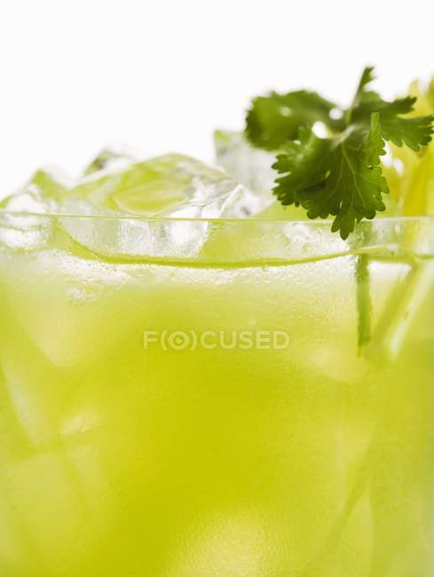 Vodka Lime Cocktail in Glass — Stock Photo