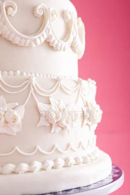 Casamento bolo Fondant — Fotografia de Stock