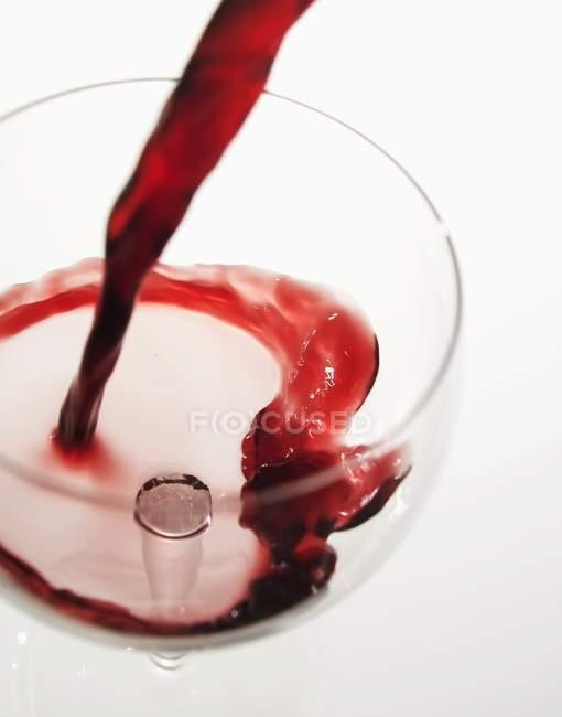 Rotwein mit Geschmack — Stockfoto