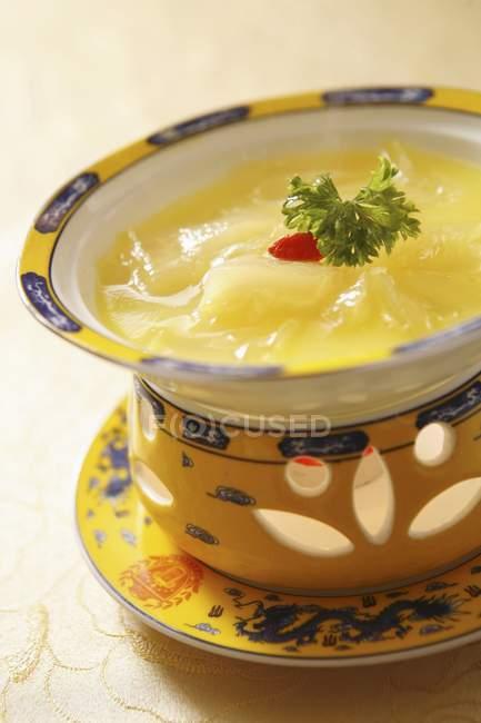 Health pumpkin soup — Stock Photo