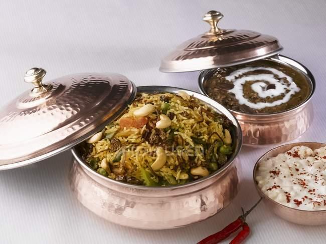 Délicieuse cuisine indienne — Photo de stock