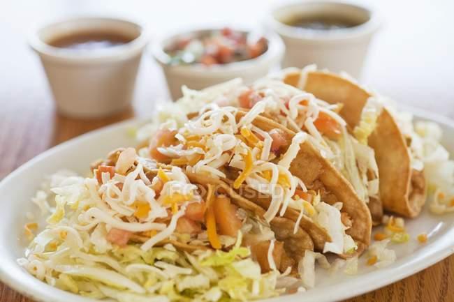 Gebratene Hühnertacos — Stockfoto
