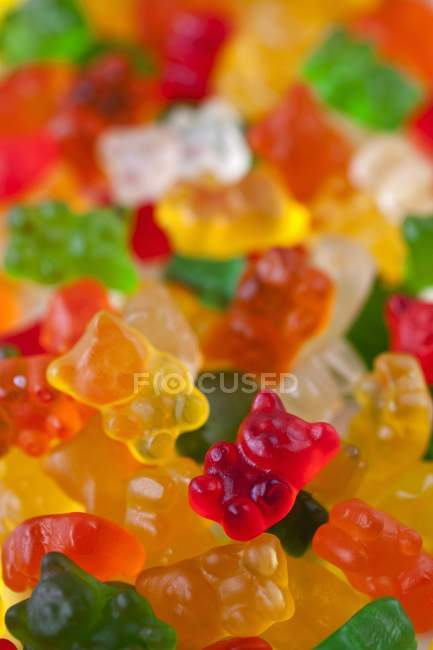 Closeup view of colorful gummie bears — Stock Photo