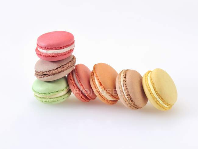 Colourful almond macaroons — Stock Photo