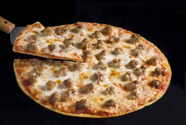 Crust Sausage Pizza — Stock Photo