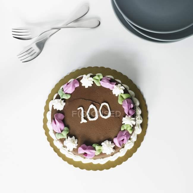 Шоколадный торт матовый — стоковое фото