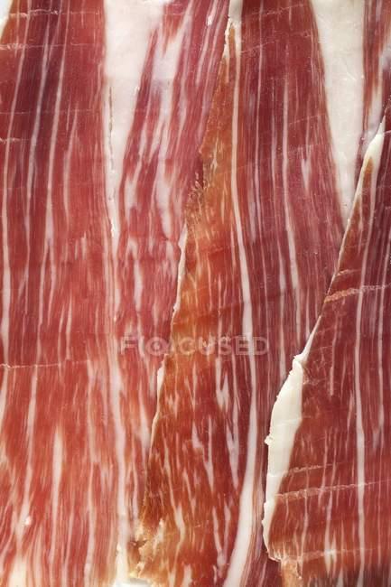 Нарізаний іспанської шинки — стокове фото