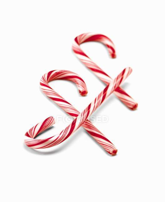 Striped Candy Canes — Stock Photo