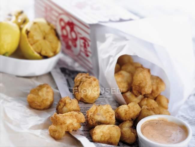 Popcorn Grouper Nuggets — Stock Photo