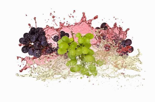 Roten und grünen Trauben — Stockfoto