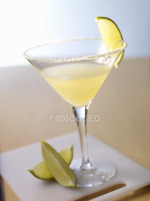 Glass of refreshing Margarita — Stock Photo