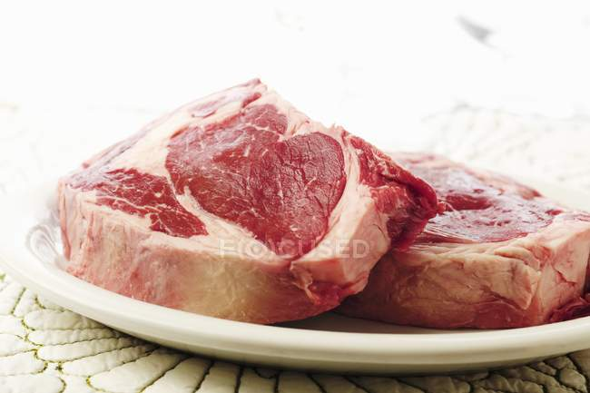 Two Raw Steaks — Stock Photo