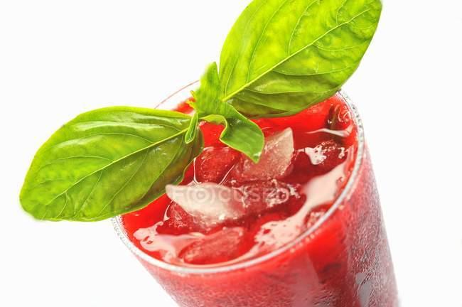 Himbeer-Basilikum-Mojito-Cocktail — Stockfoto