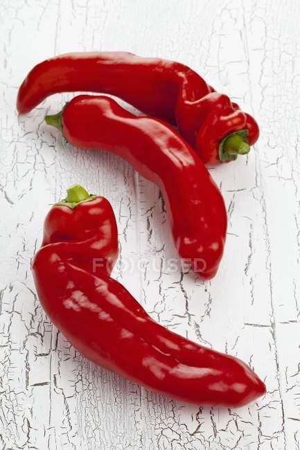 Pimentos vermelhos pontiagudos — Fotografia de Stock
