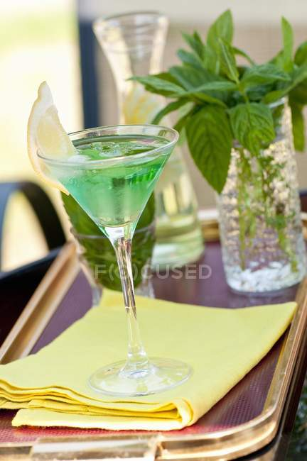 Mint cocktail with gin — Stock Photo