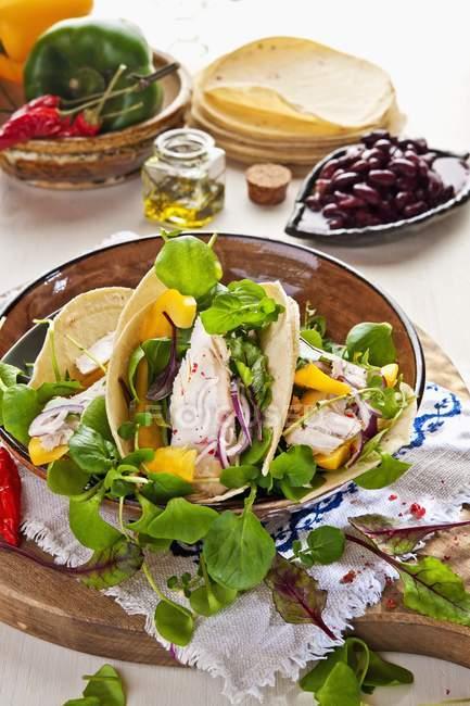 Tacos con ripieno di verdure — Foto stock