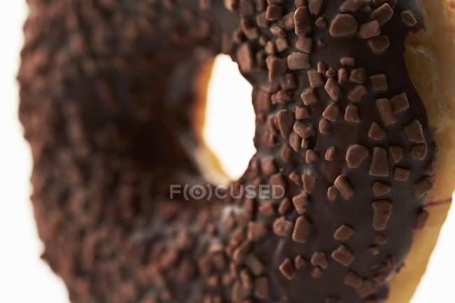 Пончик з шоколадної глазурі — стокове фото