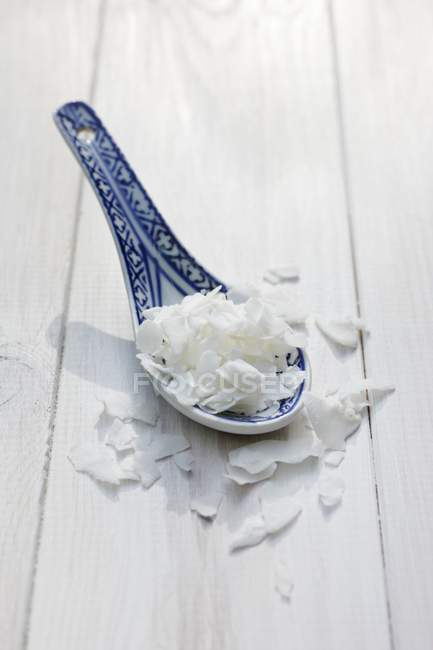 Flocons de noix de coco fraîche — Photo de stock