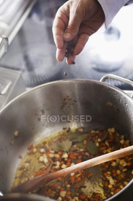 Gewürz-Stücke von Karotten — Stockfoto