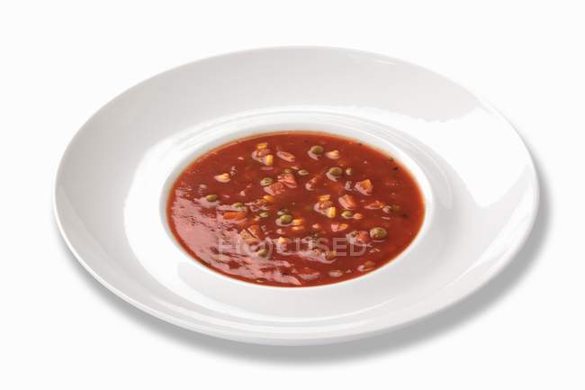 Tomato soup with beans — Stock Photo