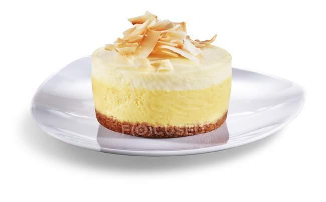 Cheesecake di agrumi di mango — Foto stock