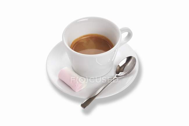 Double espresso in cup — Stock Photo